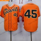 San Francisco Giants #45 Travis Ishikawa Orange 2015 Baseball Jersey Authentic Stitched