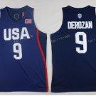 2017 Dream Twelve Team USA Jerseys #9 Demar Derozan Navy