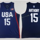2017 Dream Twelve Team USA Jerseys #15 Carmelo Anthony Navy