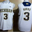 2017 College Michigan Wolverines Jerseys Big 3 Trey Burke White Shirt Uniform
