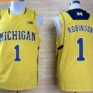 2017 College Michigan Wolverines Jerseys Big 1 Glenn Robinson Yellow Shirt Uniform