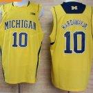 2017 College Michigan Wolverines Jerseys Big 10 Tim Hardaway Jr. Yellow Shirt Uniform