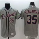 2017 Flexbase Stitched Detroit Tigers 35 Justin Verlander Grey Baseball Jerseys