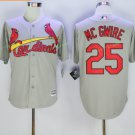 St. Louis Cardinals #25 Mark McGwire Home Away Jersey Grey Throwback Retro Stitched