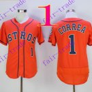 houston astros #1 carlos correa 2016 Baseball Jersey Orange Authentic Stitched