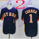 houston astros #1 carlos correa 2016 Baseball Jersey Black Authentic Stitched