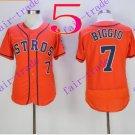 houston astros #7 Craig Biggio 2016 Baseball Jersey Orange Authentic Stitched