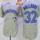 2016 Flexbase Stitched Toronto Blue Jays #32 Halladay Grey Jersey