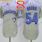 2016 Flexbase Stitched Toronto Blue Jays #54 Osuna Grey Jersey