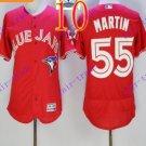 2016 Flexbase Stitched Toronto Blue Jays #55 Martin Red Jersey
