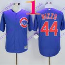 2016 Majestic Official Cool Base Stitched Chicago Cubs #44 Anthony Rizzo Blue Baseball Jerseys