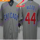 2016 Majestic Official Cool Base Stitched Chicago Cubs #44 Anthony Rizzo  Grey Baseball Jerseys