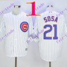 2016 Majestic Official Cool Base Stitched Chicago Cubs #21 sammy sosa White Baseball Jerseys