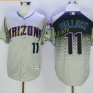 Arizona Diamondbacks 11 A.J Pollock Jersey Men Fashion Stitched  Baseball Jerseys Grey Black