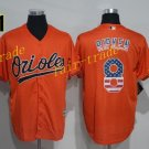 8 Cal Ripken Jersey 1989 Cooperstown Baltimore Orioles Baseball Jerseys Throwback Orange Style 1