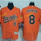 8 Cal Ripken Jersey 1989 Cooperstown Baltimore Orioles Baseball Jerseys Throwback Orange Style 3
