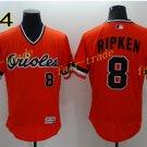 8 Cal Ripken Jersey 1989 Cooperstown Baltimore Orioles Baseball Jerseys Throwback Orange Style 4