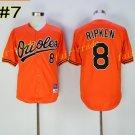 8 Cal Ripken Jersey 1989 Cooperstown Baltimore Orioles Baseball Jerseys Throwback Orange Style 5