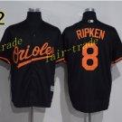 8 Cal Ripken Jersey 1989 Cooperstown Baltimore Orioles Baseball Jerseys Throwback Black