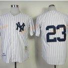 New York Yankees 23 Don Mattingly Jersey 1961 Cooperstown Baseball Jerseys Throwback White pinstripe