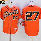 San Francisco SF Giants 27 Juan Marichal Jersey Flexbase  Baseball Jerseys 1989 Retro Orange
