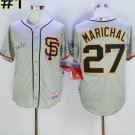San Francisco SF Giants 27 Juan Marichal Jersey Flexbase  Baseball Jerseys 1989 Retro Grey Style 1