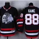 #88 patrick kane Skulls Black ICE Throwback Vintage Jersey ICE Hockey Jerseys Heritage Stitched