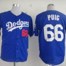 los angeles dodgers #66 yasiel puig 2015 Baseball Jersey Blue Jerseys Authentic Stitched