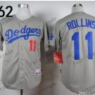 Los Angeles Dodgers #11 Jimmy Rollins 2015 Baseball Jersey Grey Authentic Stitched