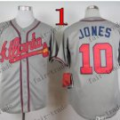 Atlanta Braves #10 Chipper Jones 2015 Baseball Jersey  Authentic Stitched