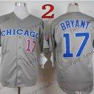 Atlanta Braves #17 kris bryant 2015 Baseball Jersey  Authentic Stitched