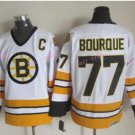 Top Quality Mens Boston Bruins Jerseys #77 Ray Bourque White Yellow Vintage Ice Hockey Jersey