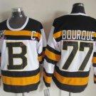 Top Quality Mens Boston Bruins Jerseys #77 Ray Bourque White Black Vintage Ice Hockey Jersey