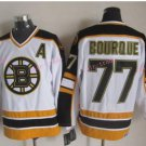Top Quality Mens Boston Bruins Jerseys #77 Ray Bourque White Vintage Ice Hockey Jersey