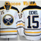Buffalo Sabres Jersey 15 Jack Eichel Ice Hockey Jerseys Throwback Home White Jerseys