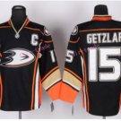 Anaheim Ducks Hockey Jerseys #15 Ryan Getzlaf Jersey Third Black Yellow Alternate Ice Hockey