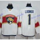 Florida Panthers #1 Roberto Luongo White 2016 Hockey Jerseys Ice Winter Jersey All Stitched