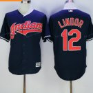 Cleveland Indians 12 Francisco Lindor Jersey 2016 World Series Baseball Jerseys Blue Style 5