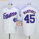 montreal expos #45 martinez White 2017 Baseball Jerseys