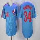 montreal expos #34 bryce harper Blue 2017 Baseball Jerseys