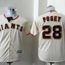 2017 Kids Majestic Stitched San Francisco Giants 28 Buster Posey Cream Youth Baseball Jersey