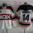 Chicago White Sox #14 paul konerko Baseball Hooded Stitched Old Time Hoodies Sweatshirt Jerseys
