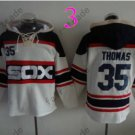 Chicago White Sox #35 frank thomas Baseball Hooded Stitched Old Time Hoodies Sweatshirt Jerseys