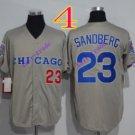 chicago cubs #23 Ryne Sandberg Grey 2016 Baseball Jersey