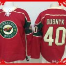 wild #40 devan dubnyk Red 2015 Ice Winter Hockey Jerseys Authentic Stitched