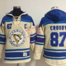 87# sidney crosby  Hockey Hooded Stitched Old Time Hoodies Sweatshirt Jerseys