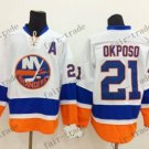 new york islanders #21 kyle okposo White 2015 Ice Winter Hockey Jerseys Authentic Stitched
