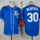 2015 World Series Kansas City Royals 30 Yordano Ventura Dark Blue Baseball Jersey