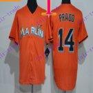 miami marlins #14 prado  2016 Baseball Jersey Authentic Stitched