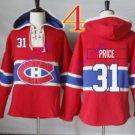 montreal canadiens #31 carey price Red hoodie Hockey Hooded Sweatshirt Jerseys